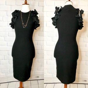 3.1 Phillip Lim Zipper Ruffle Stretch Mini Dress